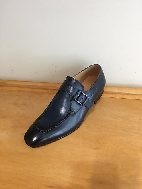 Carrucci Navy Slip -On Monk Strap Loafer