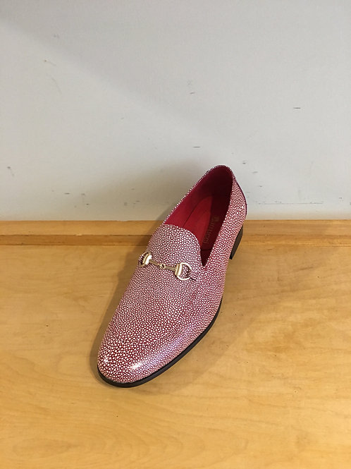 Red Textured Stingray Loafer