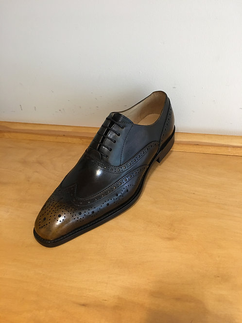 Carrucci Brown Patina Medallion Wingtip