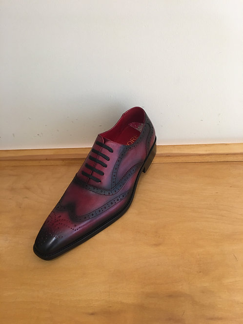 Aurelio Garcia Red  Wing Tip Lace-Up