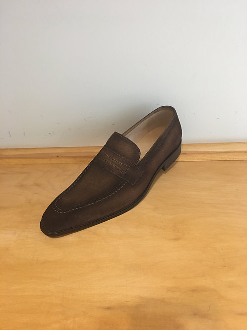 Carrucci Brown Suede Penny Loafer