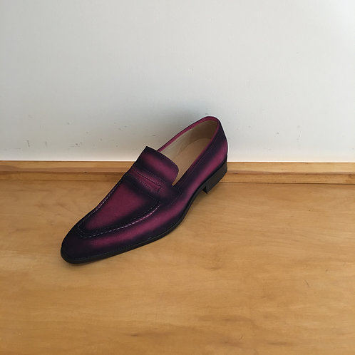 Carrucci Pink Suede Penny Loafer