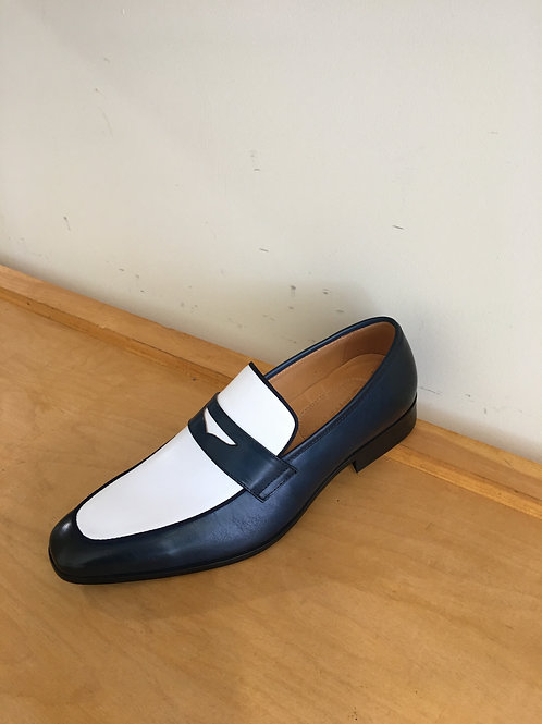 Navy/Whtie Penny Loafer