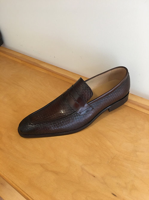 Chestnut Brown Woven Loafer