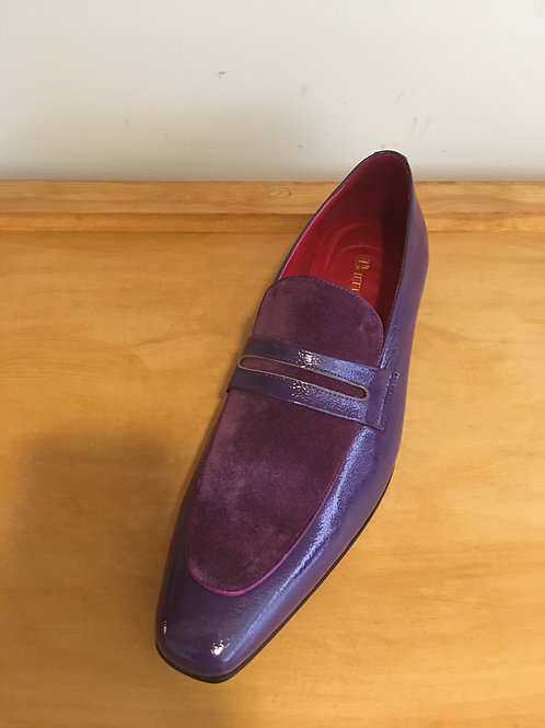 Purple Suede/Patent Leather Loafer