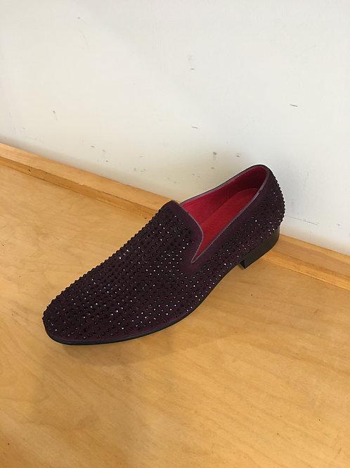 Studded Suede Slip-On Loafer