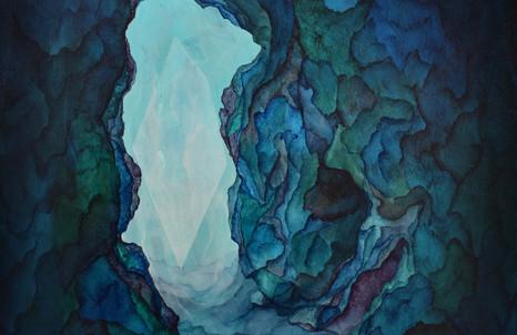 Thomas Scalco, Origine, 2020, acrilico su tela, cm 40x50