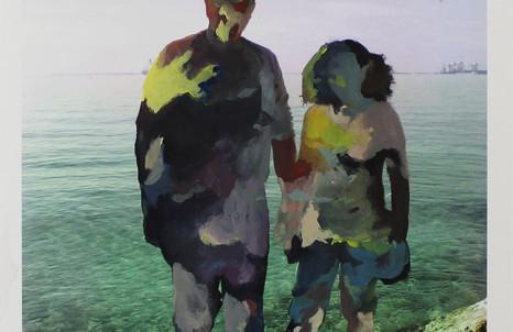 Patrizia Emma Scialpi, Love and Loss, 2014, acrilici su stampa inkjet su carta hahnemühle bamboo, cm 42x29