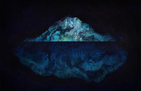 Thomas Scalco, La pietra della follia, in estrazione. 2020, acrilico su tavola, cm 35,5x24