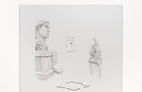 Stefano Spera, GAP, acrolito, olio su tavola, cm. 160x150