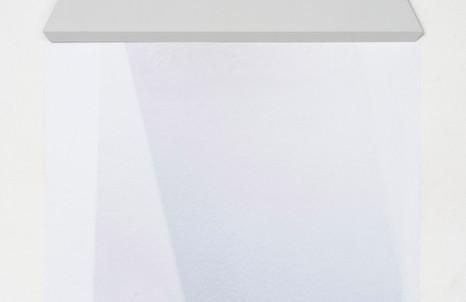 Stefano Spera, GAP, Reina Sofia, 2018, olio su tavola e stampa su pellicola adesiva, cm 70x22