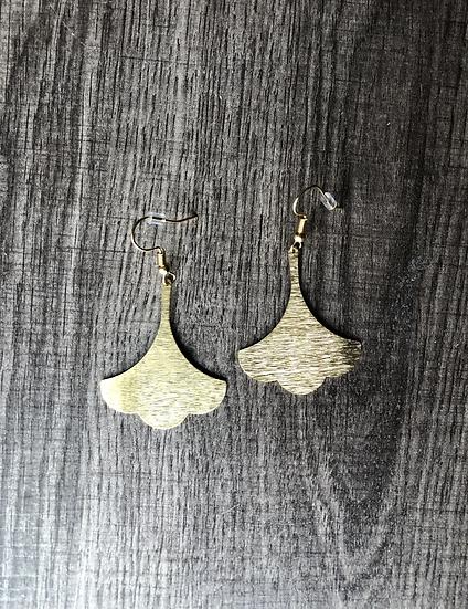 Flare Brass Earrings
