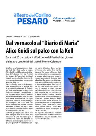 21.04.16 - Resto del Carlino Pesaro