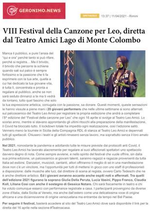 21.04.11 - Geronimo news