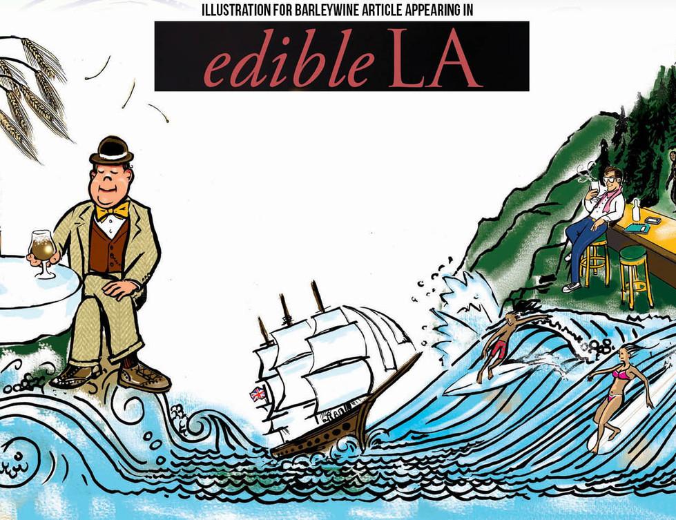 Illustration for Origin of IPA in Edible LA