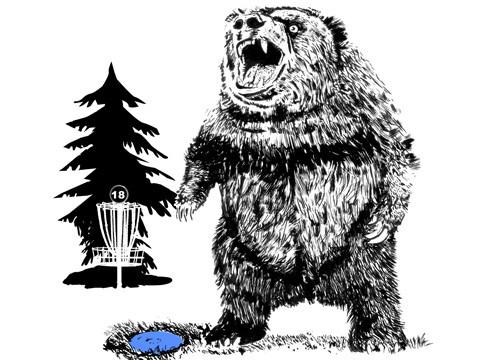Frisbee Golf, Hole 18 is a BEAR