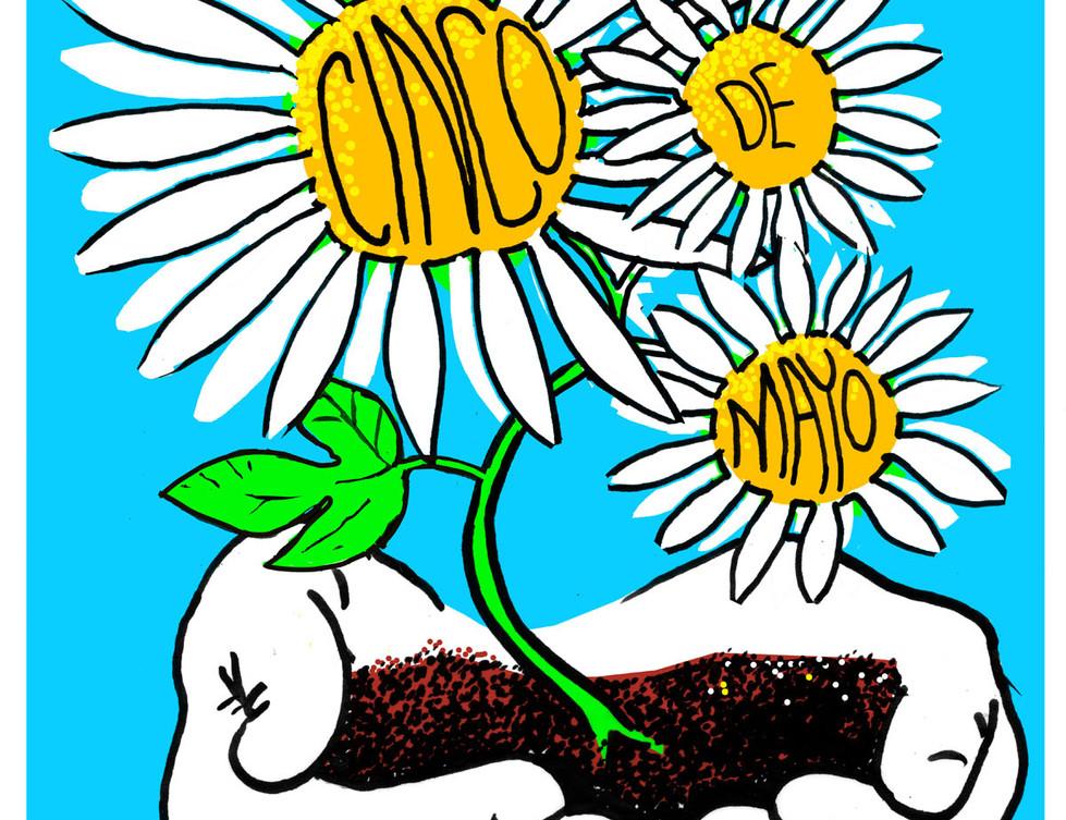 cinco de mayo flower mockup