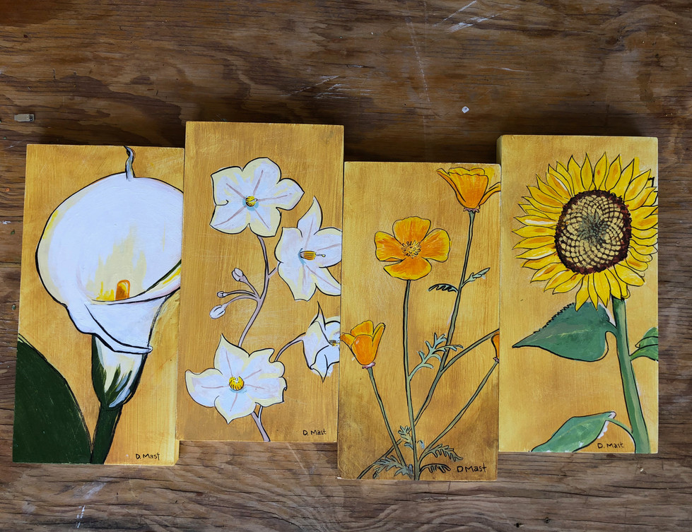 sample paintings for mock up