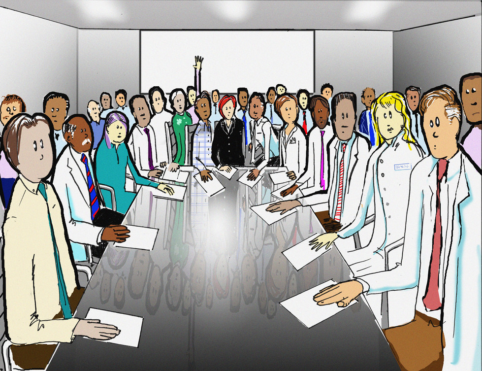 Board Meeting for Medical Group Book