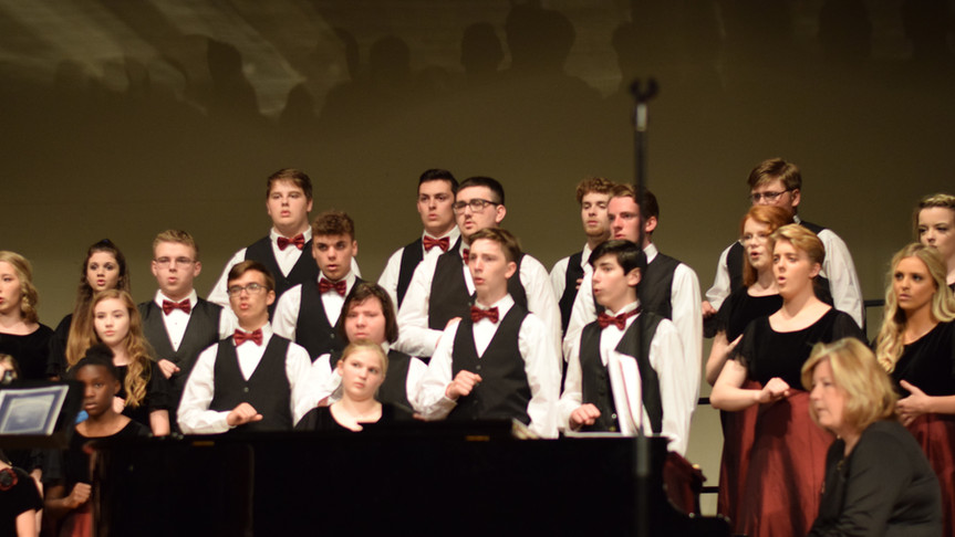 2019 Spring Choir singing Irish Farewell Hymn