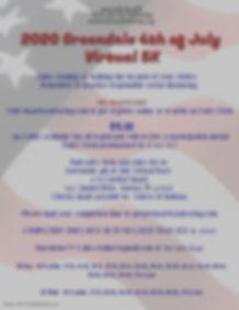 Virtual 2020 Greendale 4th of July 5K po