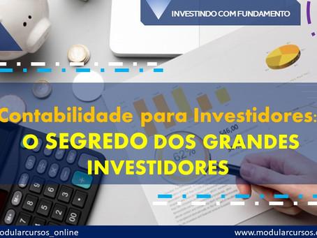 Contabilidade para Investidores – O segredo dos grandes investidores
