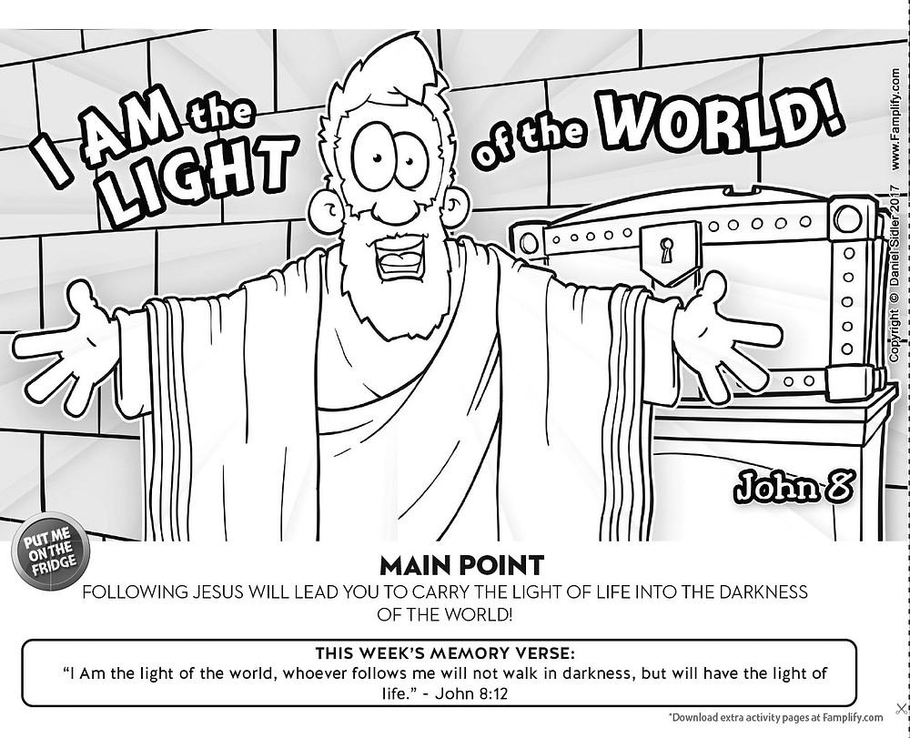 Nehemiah's Leadership Coloring Page