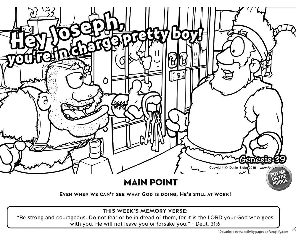 Joseph in Jail Color Page Genesis 39