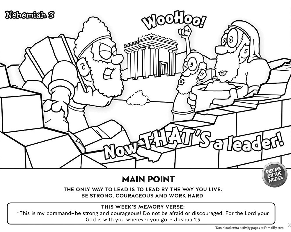 Nehemiah's Leadership Coloring Page