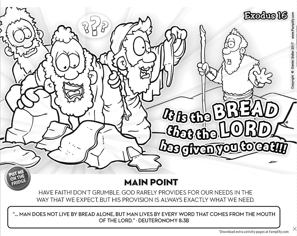 Manna Coloring Page