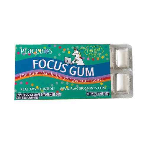 Focus Gum:  The Gum That Helps You Get Stuff Done! (G-Rated) - 3 pack