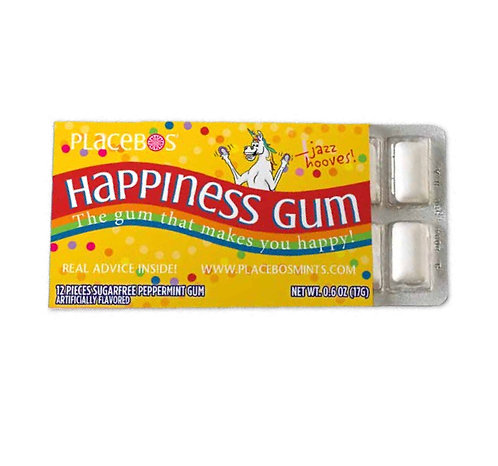 Happiness Gum:  The Gum That Makes You Happy! - 3 pack