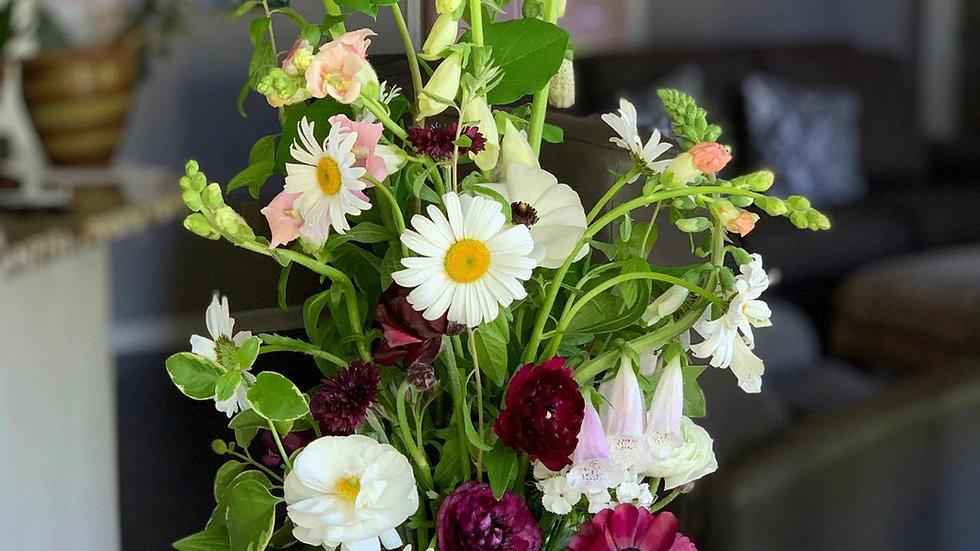 Quart-size Mason Jar Bouquet