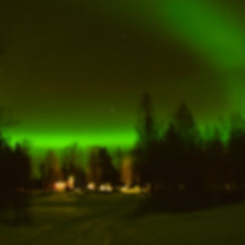 Northen light at Laplandhusky in Swedish Lapland