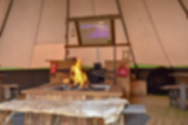 Tent at Laplandhusky in Swedish Lapland