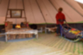 Tent at Laplandhusky's homestead in Swedish Lapland