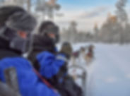 Midwinter husky safari at Laplandhusky in Swedish Lapland
