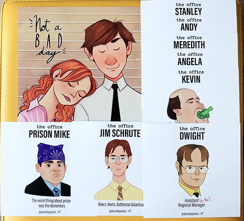 The Office - kit com diversos personagens