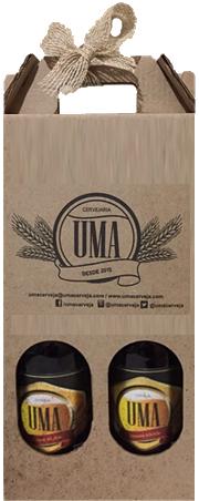 Presente com 2 garrafas de UMA German Kölsch 500ml