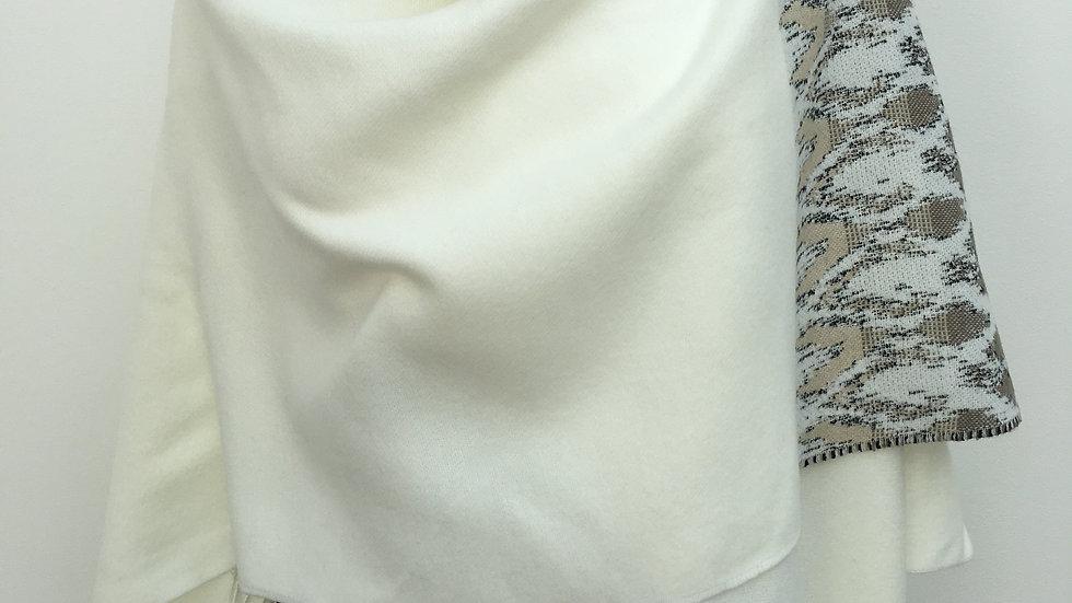 Poncho blanc