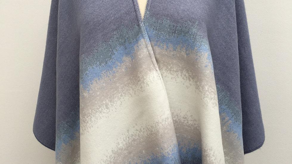 Poncho bleu clair