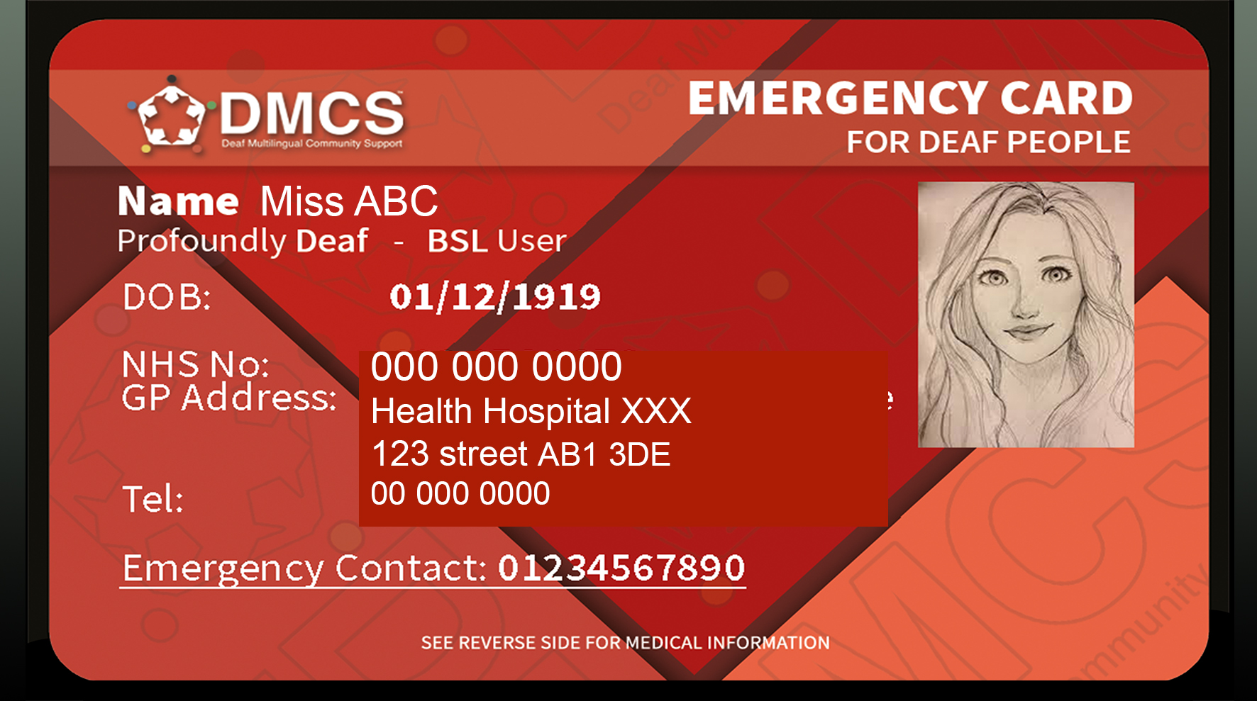 Emergency Card for Deaf people