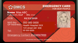 Emergency Card for Deaf people