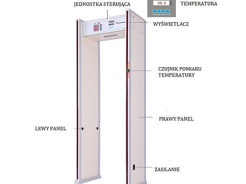 Bramka do bezdotykowego pomiaru temperatury
