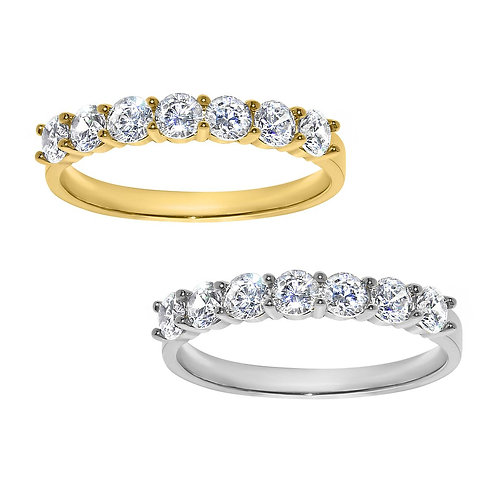 14k Yellow or White Gold 1 1/10ct TGW Round-cut Diamonette Wedding Band