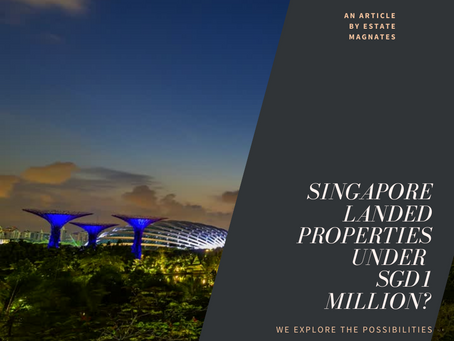 Can You Purchase a Landed Property Under One Million?