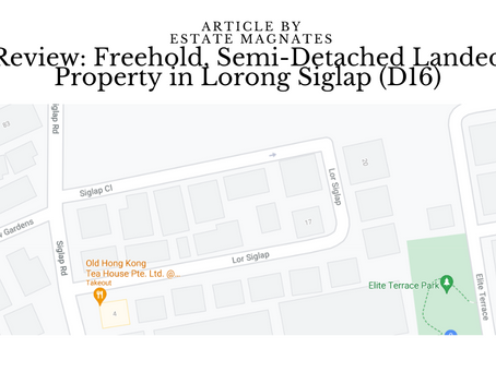 Review: Freehold, Semi-Detached Landed Property in Lorong Siglap