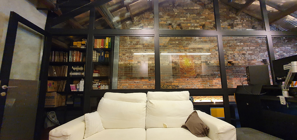 Attic Space Glass Wall