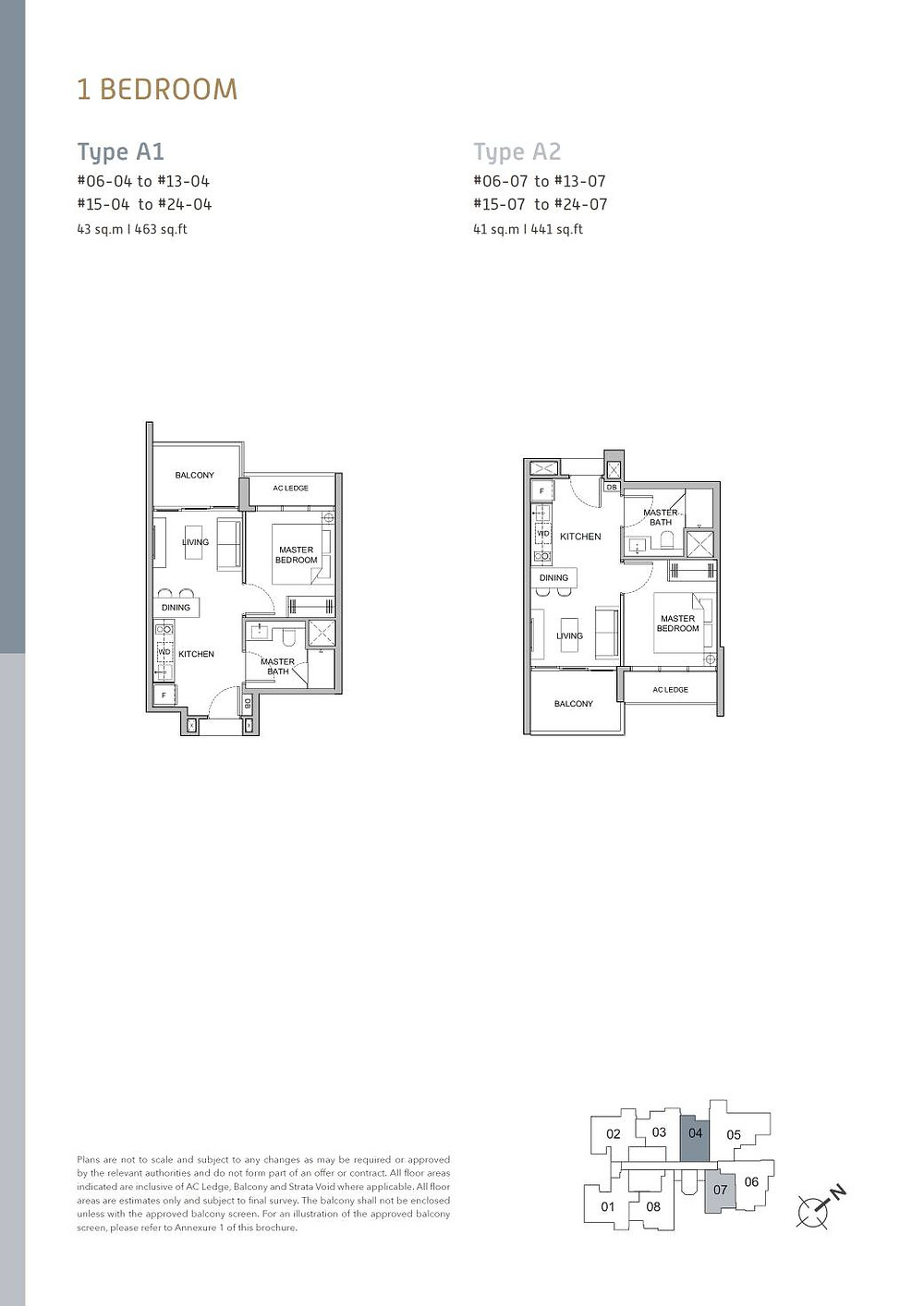 Verticus 1 Bedroom Layout A1