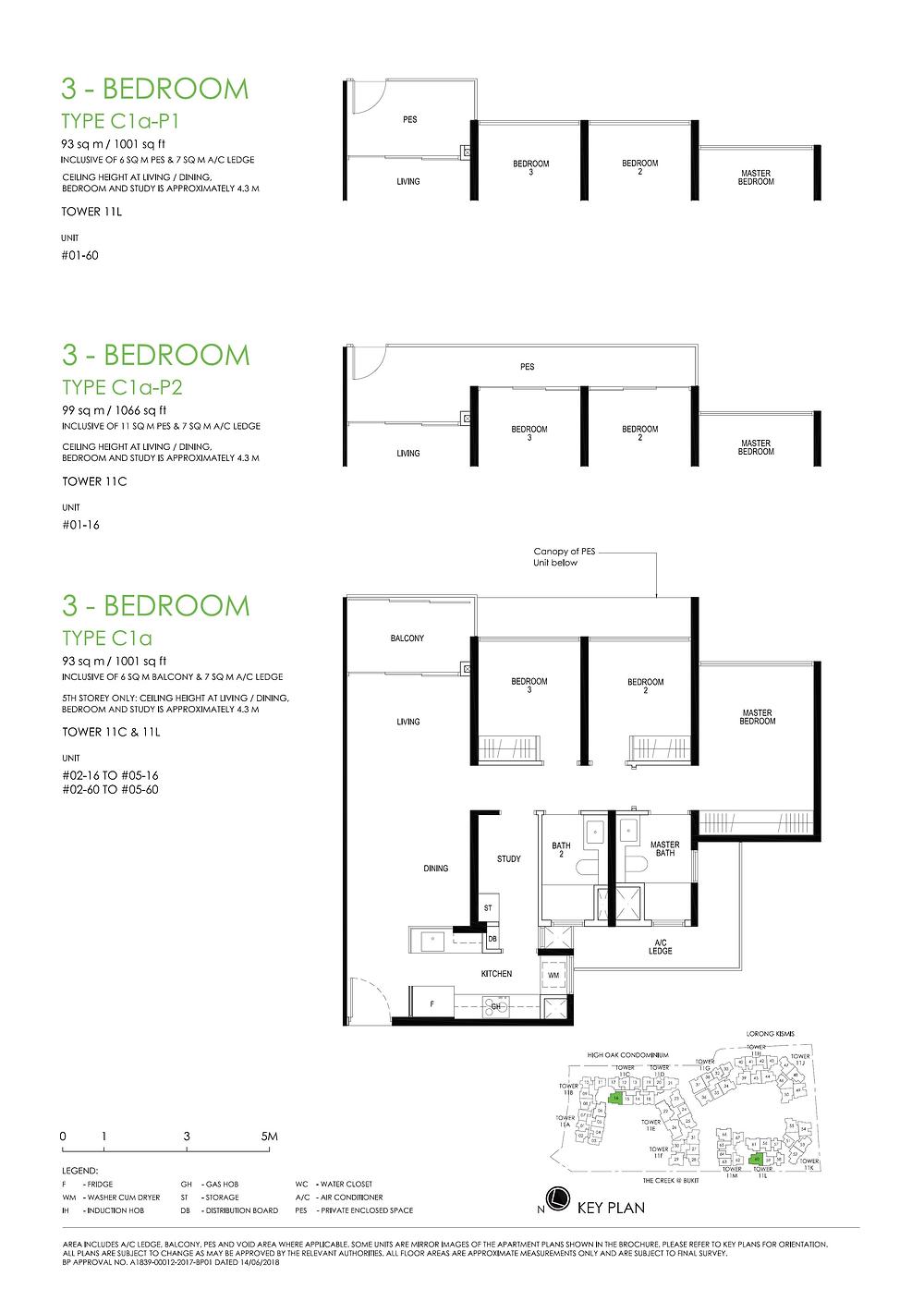 Daintree Residence 3BR+S (High Ceiling) Floor Plan